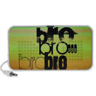 Bro; Vibrant Green, Orange, & Yellow Mp3 Speaker