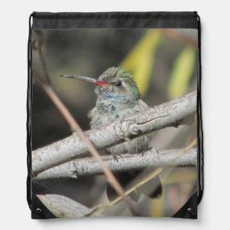 Broad-billed Hummingbird Drawstring Bag