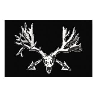 Broad head buck custom stationery