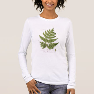 Broad Prickly-toothed Buckler Fern, painted at Bra Long Sleeve T-Shirt