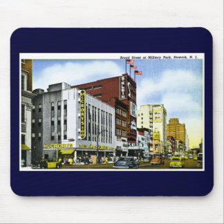 Broad Street at Military Park, Newark, New Jersey Mouse Mat