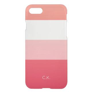 Broad Stripes | Blush & Pink | Custom Initials iPhone 8/7 Case