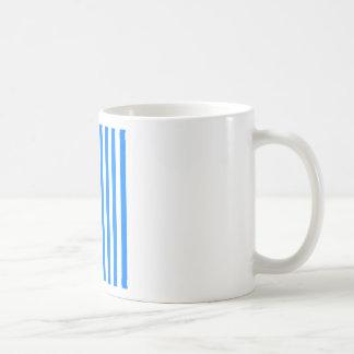 Broad Stripes - White and Azure Mug