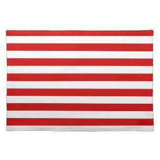 Broad Stripes - White and BU Red Place Mat