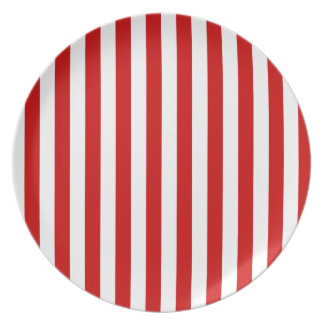 Broad Stripes - White and BU Red Plates