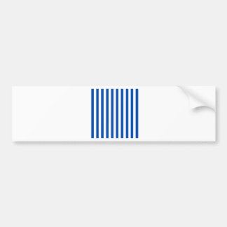 Broad Stripes - White and Cobalt Bumper Stickers