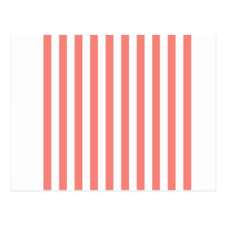Broad Stripes - White and Coral Pink Post Cards