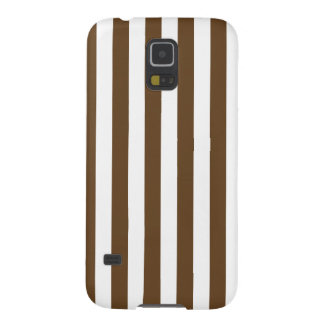 Broad Stripes - White and Dark Brown Galaxy S5 Cover