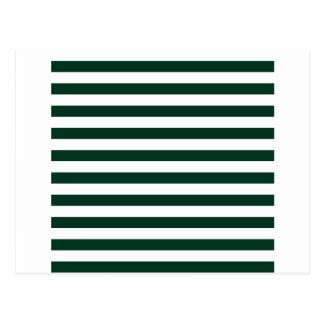 Broad Stripes - White and Dark Green Postcard
