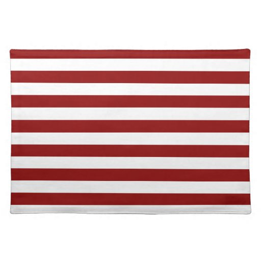 Broad Stripes - White and Dark Red Placemat