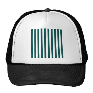Broad Stripes - White and Deep Jungle Green Trucker Hat