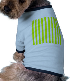 Broad Stripes - White and Fluorescent Yellow Pet Tee
