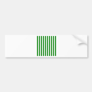 Broad Stripes - White and Green Bumper Stickers