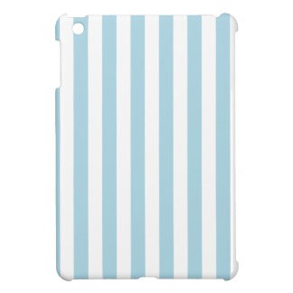 Broad Stripes - White and Light Blue Cover For The iPad Mini