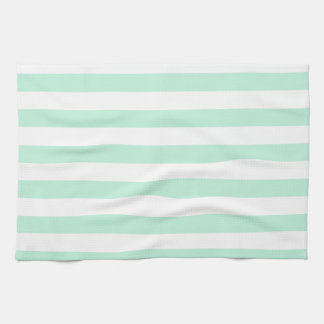 Broad Stripes - White and Magic Mint Tea Towel