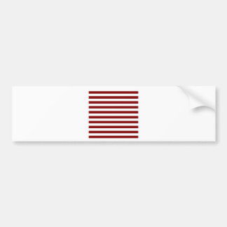 Broad Stripes - White and Maroon Bumper Sticker