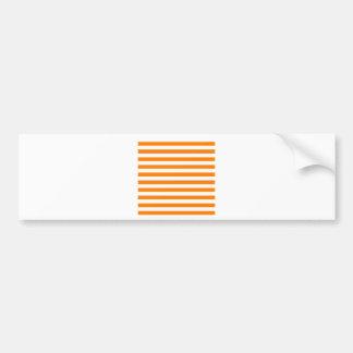 Broad Stripes - White and Orange Bumper Stickers
