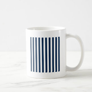 Broad Stripes - White and Oxford Blue Basic White Mug
