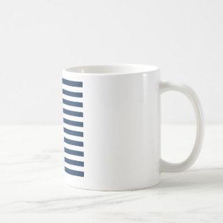 Broad Stripes - White and Oxford Blue Mug