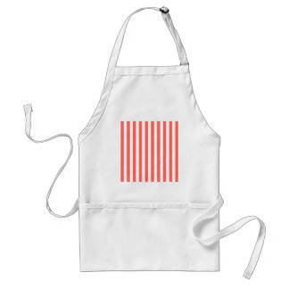 Broad Stripes - White and Pastel Red Apron