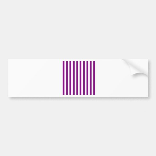 Broad Stripes - White and Purple Bumper Stickers