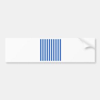 Broad Stripes - White and Sapphire Bumper Sticker