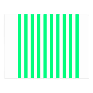 Broad Stripes - White and Spring Green Postcard