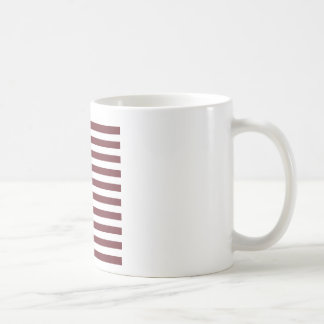 Broad Stripes - White and Wine Mugs
