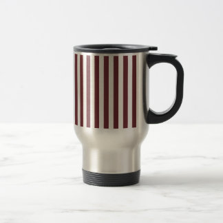 Broad Stripes - White and Wine Coffee Mug