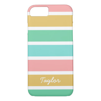 Broad Summer Stripes Custom Name iPhone 8/7 Case