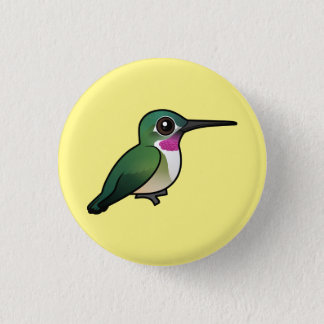 Broad-tailed Hummingbird 3 Cm Round Badge