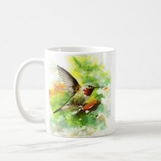 Broad tailed Hummingbird Basic White Mug