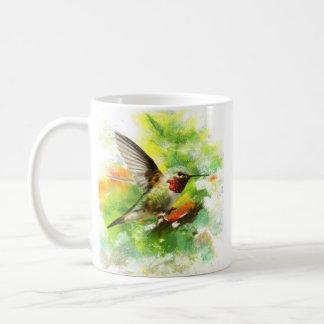 Broad tailed Hummingbird Basic White Mug