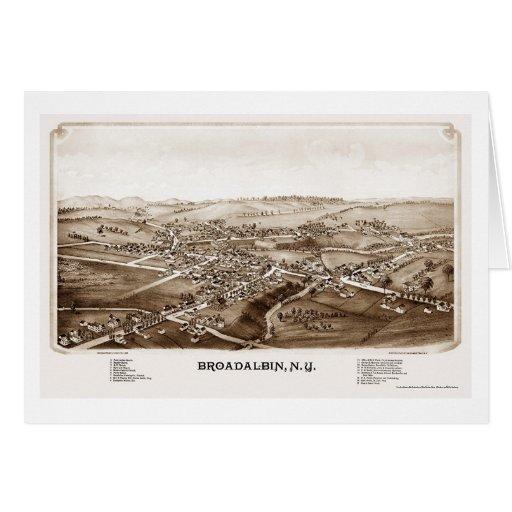 Broadalbin, NY Panoramic Map - 1880 Greeting Card