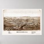 Broadalbin, NY Panoramic Map - 1880 Poster