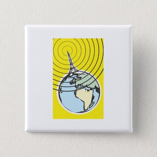 Broadcast Earth 15 Cm Square Badge