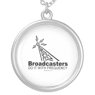 Broadcasters Round Pendant Necklace