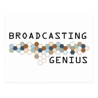 Broadcasting Genius Post Card