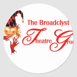 Broadclyst theatre group classic round sticker