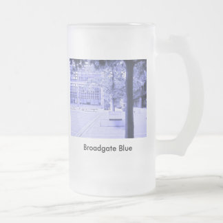 Broadgate Blue Frosted Glass Mug