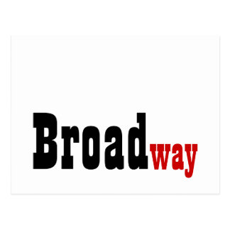 Broadway Autograph Card Postcard