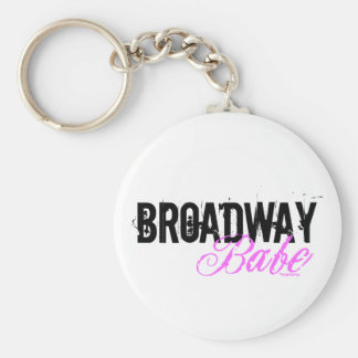 Broadway Babe Basic Round Button Key Ring