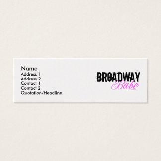 Broadway Babe Mini Business Card
