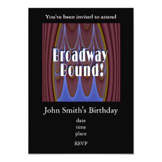 Broadway Bound! 11 Cm X 16 Cm Invitation Card