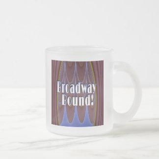 Broadway Bound! Frosted Glass Coffee Mug
