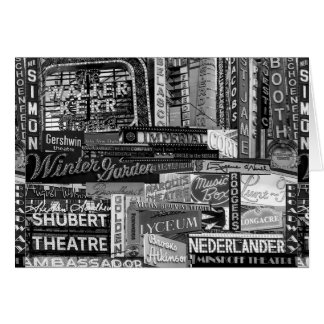 Broadway Greeting Card (B&W)