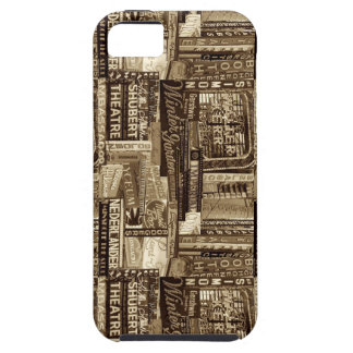 Broadway Iphone 5c/5s Case(Sepia) Tough iPhone 5 Case