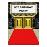 Broadway Marquee Red Carpet 80 th Birthday Party