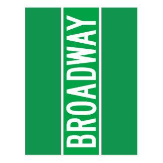 Broadway, New York Street Sign Postcard