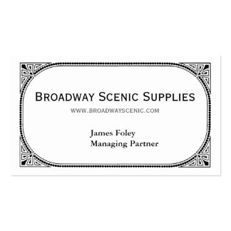 Broadway Pack Of Standard Business Cards